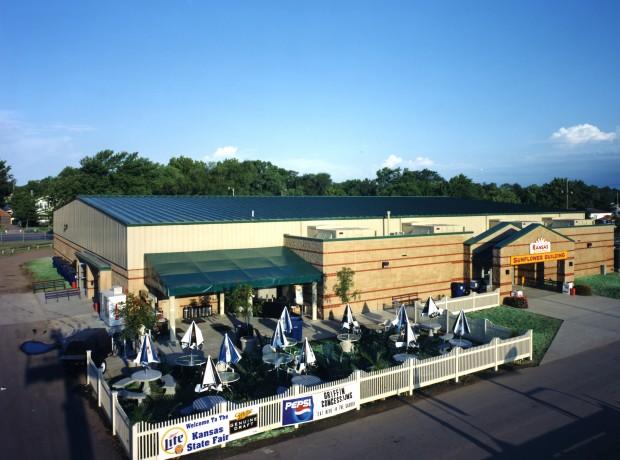 Sunflower Buildings At KS State Fairgrounds