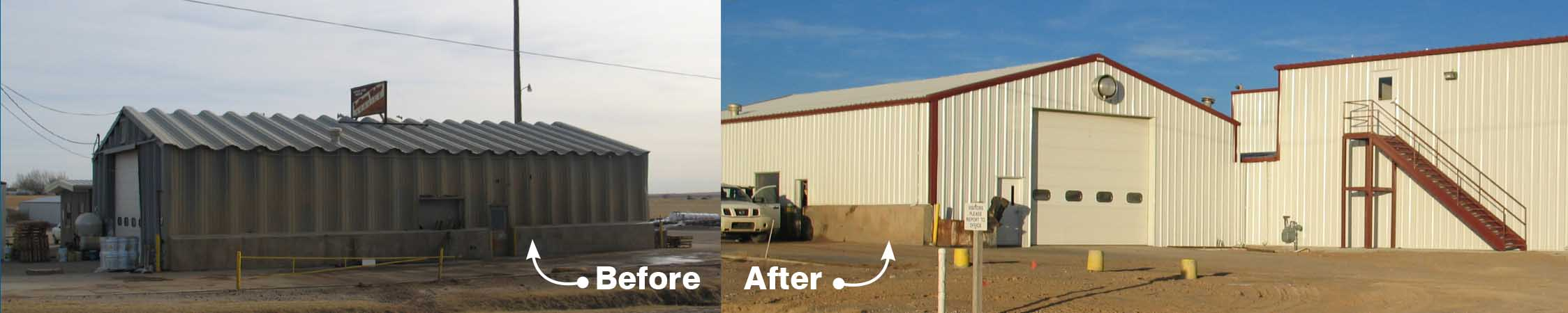 Behlen Retrofit Roofs Before and After