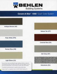 Behlen Ceram-A-Star Color Chart