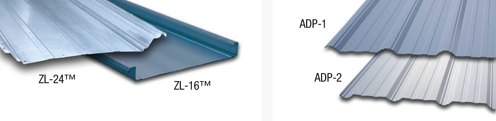 ZL-24 and ZL-16 Standing Seam Roof Panels