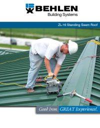 Behlen ZL-16 Standing Seam Roof Brochure